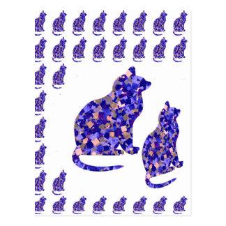 Cat Kittens KIDS Love Template Greetings Gifts FUN Post Card