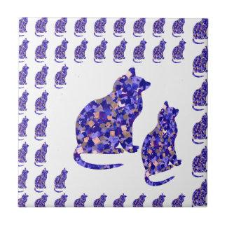 Cat Kittens KIDS Love Template Greetings Gifts FUN Ceramic Tiles