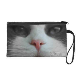Cat Kitty Kitten Nose Name Purse Custom Your Pic Wristlet Clutches