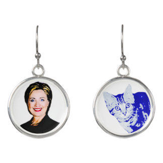 Cat Ladies for Hillary Earrings #ImWithPurr