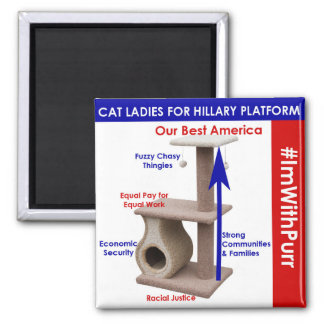 Cat Ladies for Hillary Platform Magnet