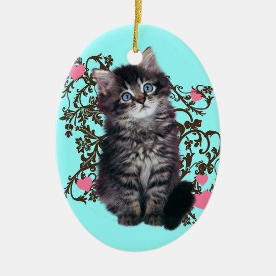Cat Ladies Rejoice Cute Kitten Ceramic Oval Decoration