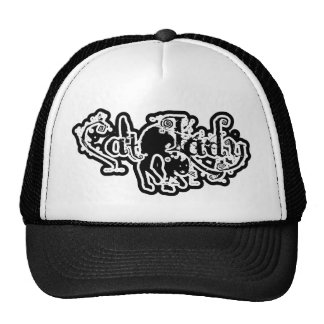 Cat Lady Black & White Mesh Hats