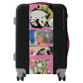 Cat Lady Goes to the Beach Luggage