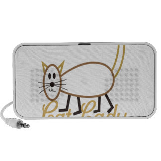 Cat Lady Notebook Speakers