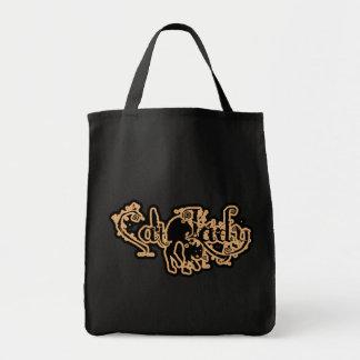 Cat Lady Orange Bags