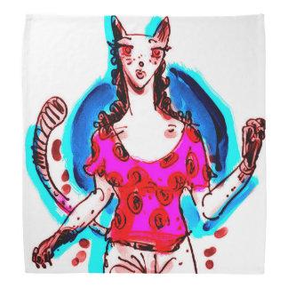 cat lady pin up pop art kerchief