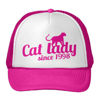 cat lady since 1998 cap