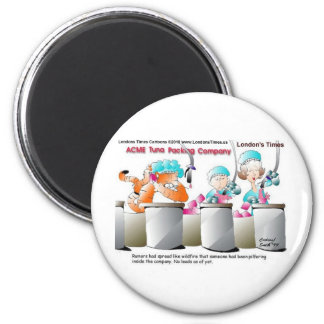 Cat Larceny Funny Cards Mugs Tees & Gifts 6 Cm Round Magnet