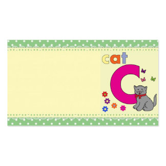 Cat Letter C Pack Of Standard Business Cards