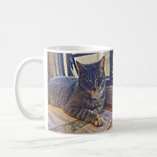 Cat Looking Out an RV Window Coffee Mug