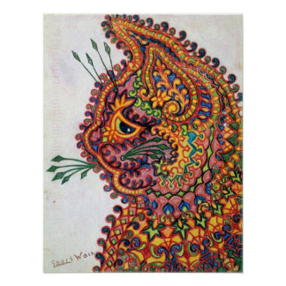 Cat, Louis Wain Poster
