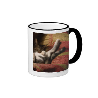 Cat Lounging Ringer Mug