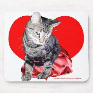 "Cat ""Love Bug"" mousepad (large design)"