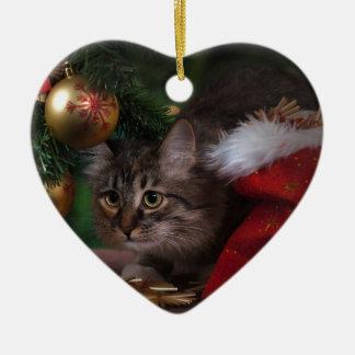 Cat love Merry Christmas Christmas Ornament