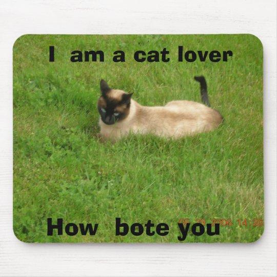 cat love mouse mat