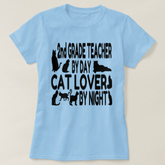 Cat Lover 2nd Grade Teacher T-Shirt