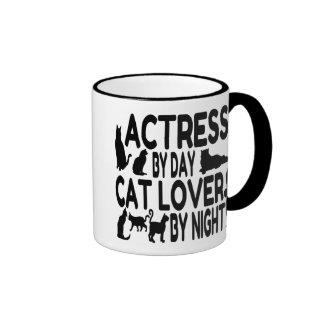 Cat Lover Actress Ringer Mug