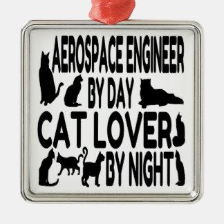 Cat Lover Aerospace Engineer Christmas Ornament