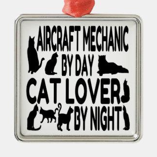 Cat Lover Aircraft Mechanic Christmas Ornament
