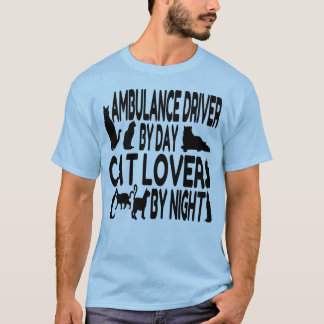 Cat Lover Ambulance Driver T-Shirt