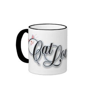 Cat Lover Black Mug