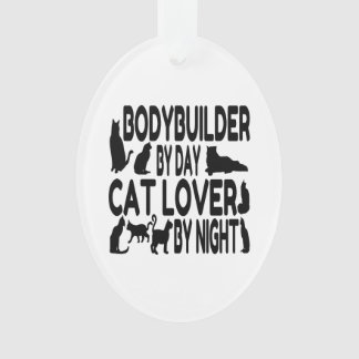 Cat Lover Bodybuilder Ornament