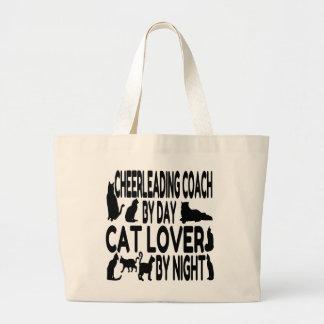 Cat Lover Cheerleading Coach Jumbo Tote Bag