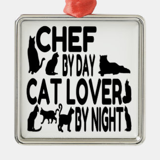 Cat Lover Chef Christmas Ornament