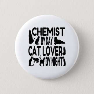 Cat Lover Chemist 6 Cm Round Badge