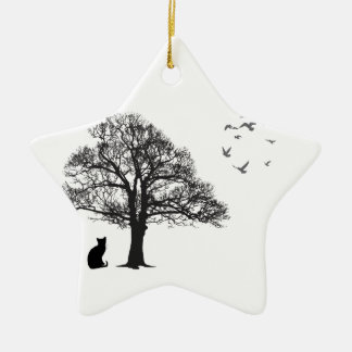 Cat lover christmas ornament