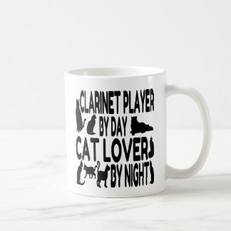 Cat Lover Clarinet Player Coffee Mug