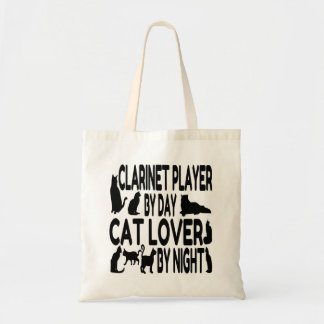 Cat Lover Clarinet Player Tote Bag