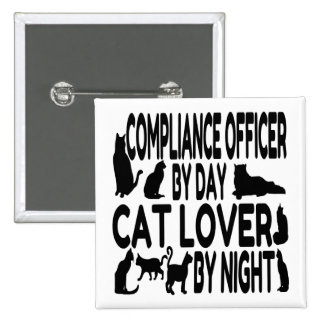 Cat Lover Compliance Officer 15 Cm Square Badge