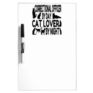 Cat Lover Correctional Officer Dry Erase Board