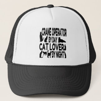 Cat Lover Crane Operator Trucker Hat
