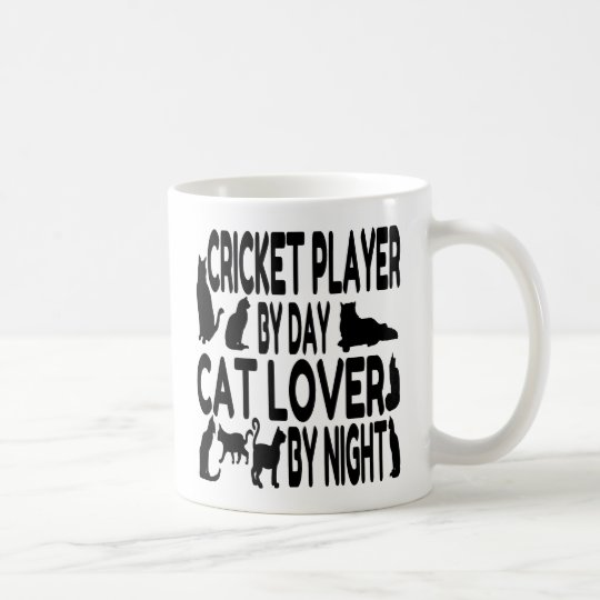 Cat Lover Cricket Player Coffee Mug