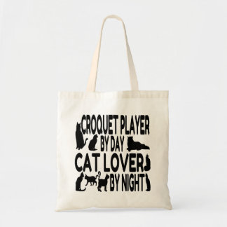 Cat Lover Croquet Player Tote Bag