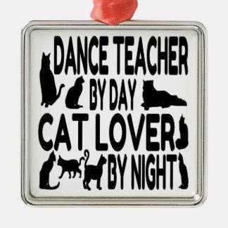Cat Lover Dance Teacher Christmas Ornament