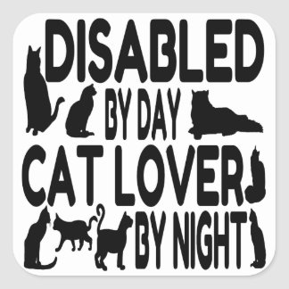 Cat Lover Disabled Square Sticker