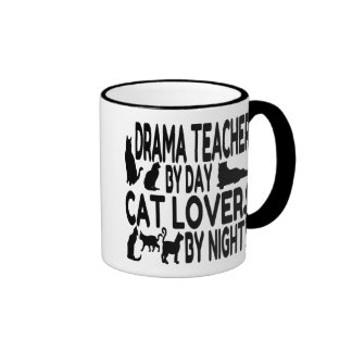 Cat Lover Drama Teacher Ringer Mug