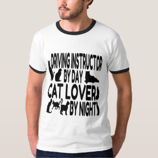 Cat Lover Driving Instructor T-Shirt
