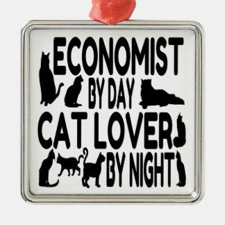 Cat Lover Economist Christmas Ornament