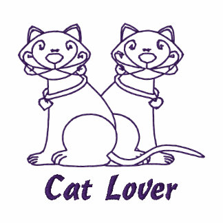 Cat Lover Embroidered Tees