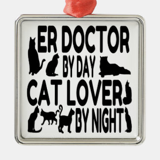 Cat Lover ER Doctor Christmas Ornament