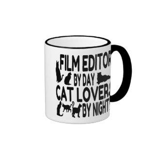 Cat Lover Film Editor Ringer Coffee Mug