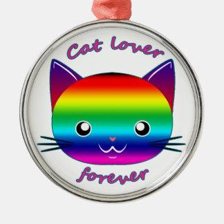 CAT LOVER FOREVER CHRISTMAS ORNAMENT