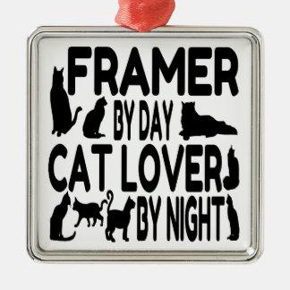 Cat Lover Framer Christmas Ornament