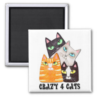 Cat Lover Fridge Magnet