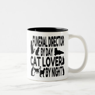 Cat Lover Funeral Director Two-Tone Coffee Mug